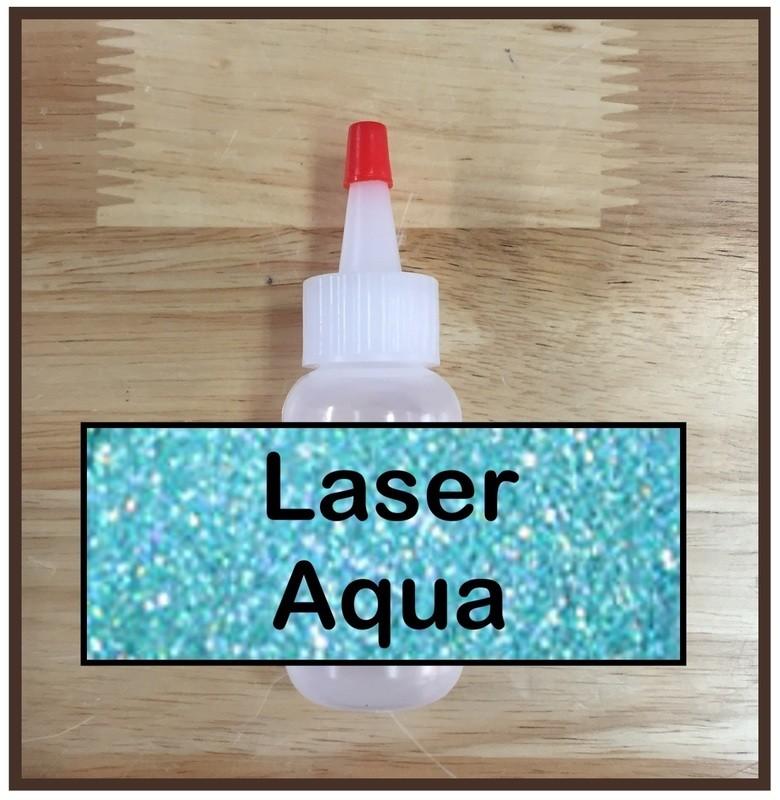Laser Aqua Glitter Poof