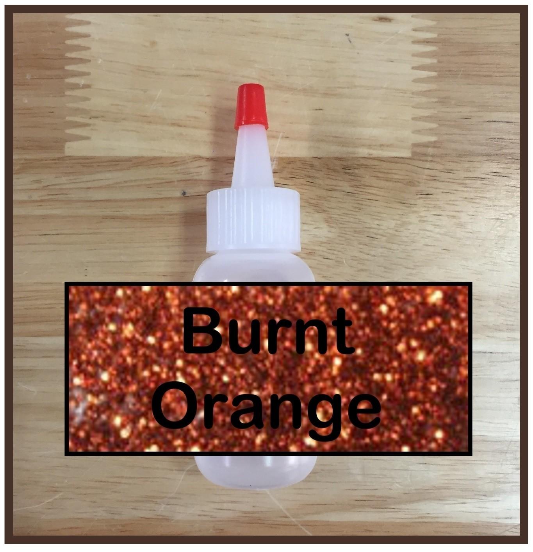 Burnt Orange Glitter Poof