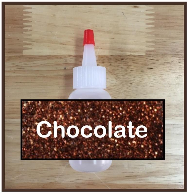 Chocolate Glitter Poof