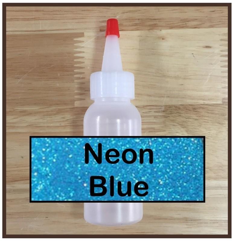 Neon Blue Glitter Refill