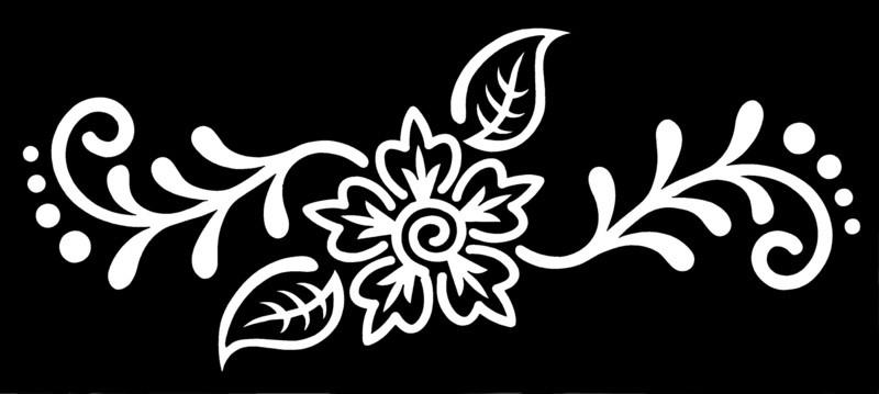 Henna Stencil - Medium