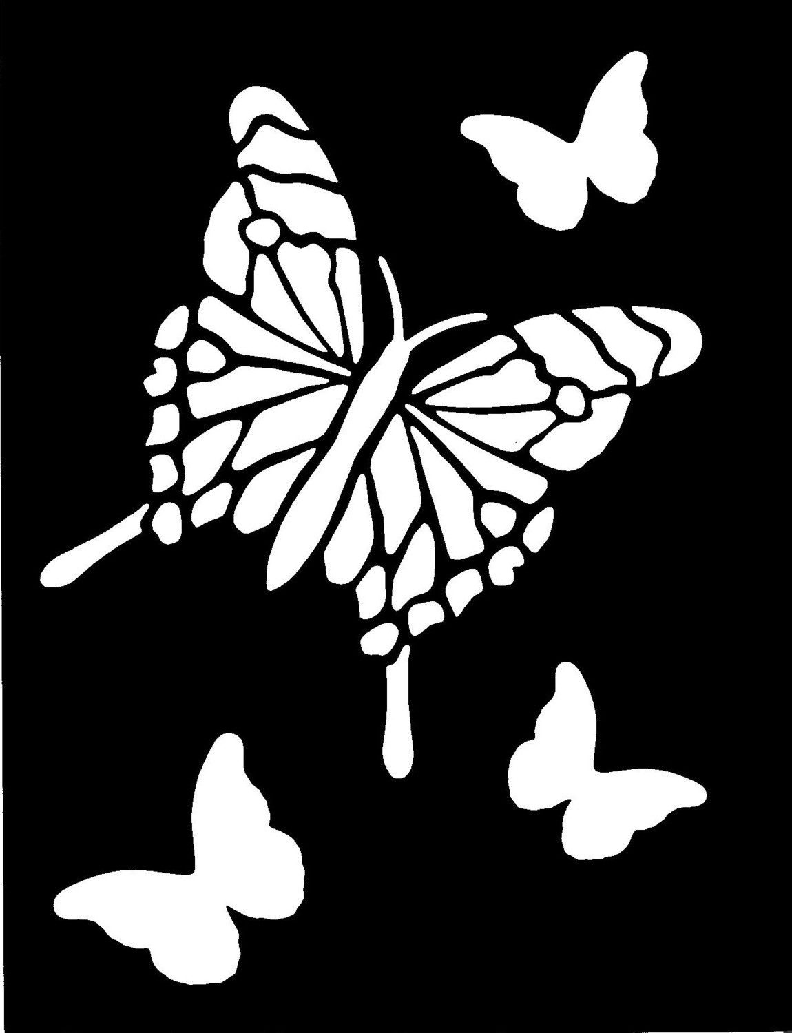 Large Butterfly Stencil