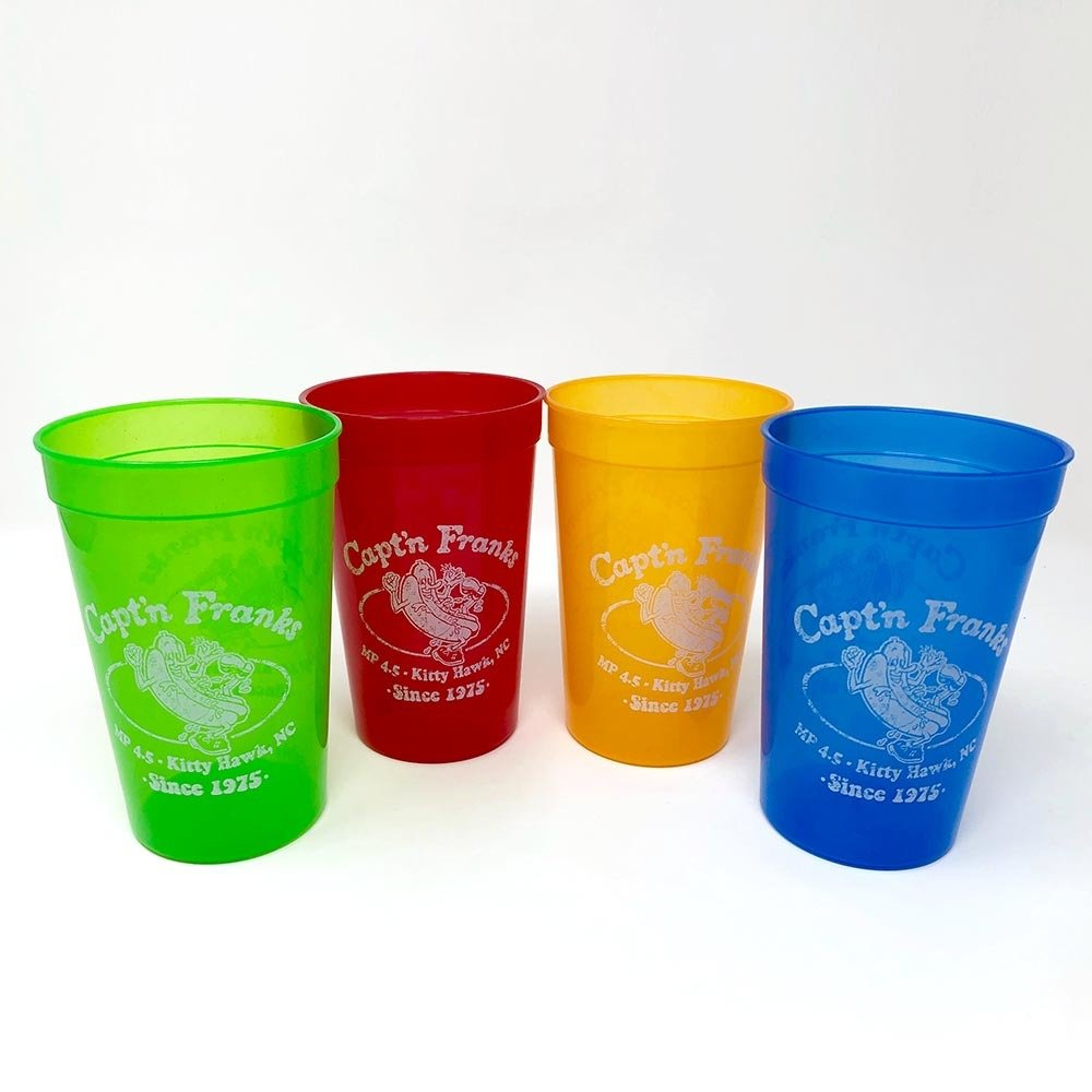 Capt'n Franks Party Cups- Packs of Four or Six 00016