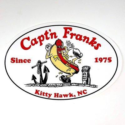 Capt'n Franks Sticker