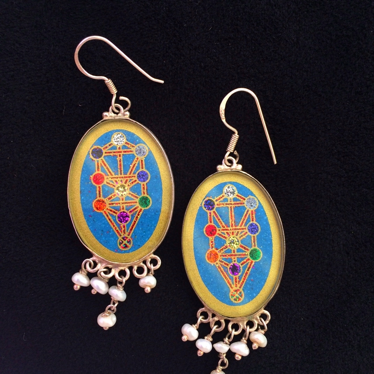 Tree of Life Sacred Geometry Earrings (turquoise) by Scalar Heart Collection