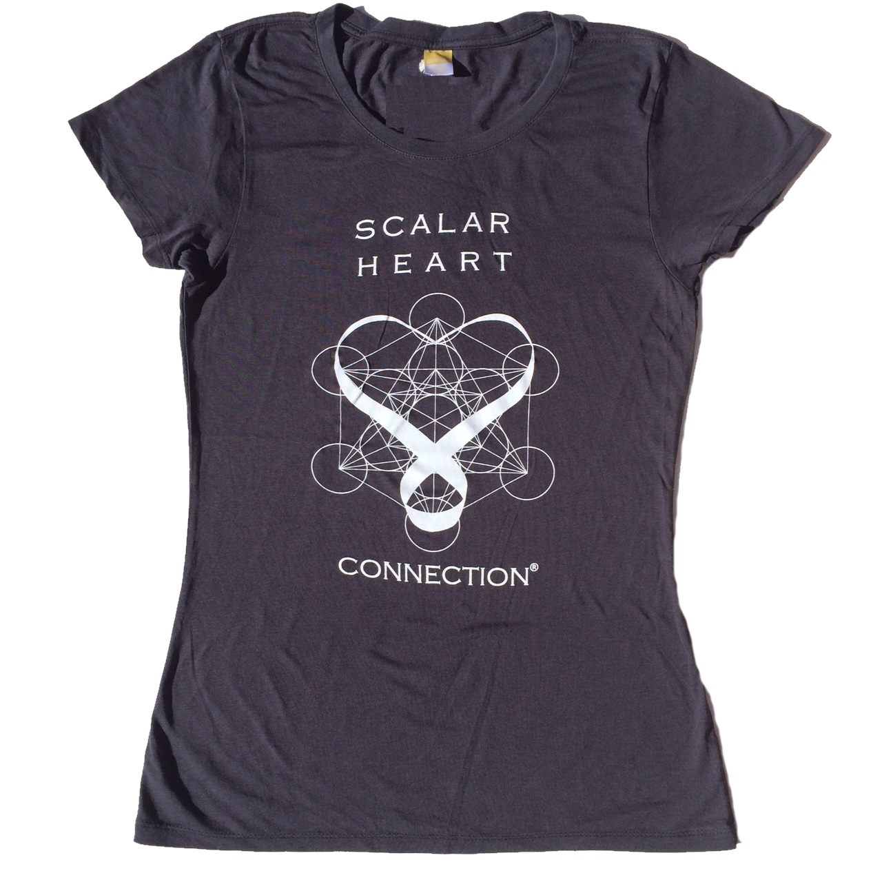 Women Organic Bamboo & Cotton T-shirt: Scalar Heart Connection in Metatron's Cube 00626