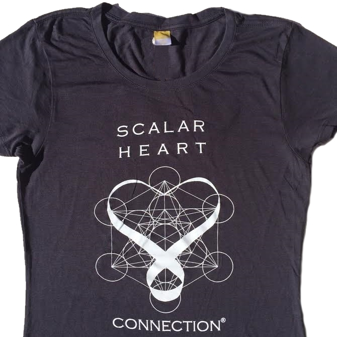 Women Organic Bamboo & Cotton T-shirt: Scalar Heart Connection in Metatron's Cube