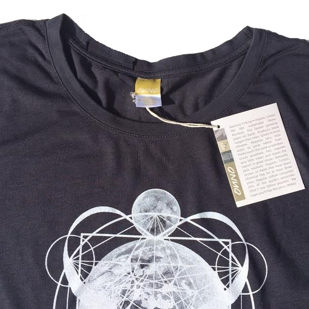 Women Organic Bamboo & Cotton T-shirt: Earth in Metatron's Cube