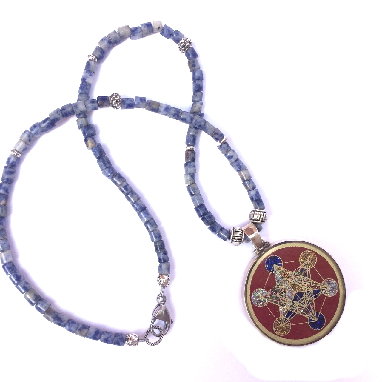 sodalite crystal vaults necklace