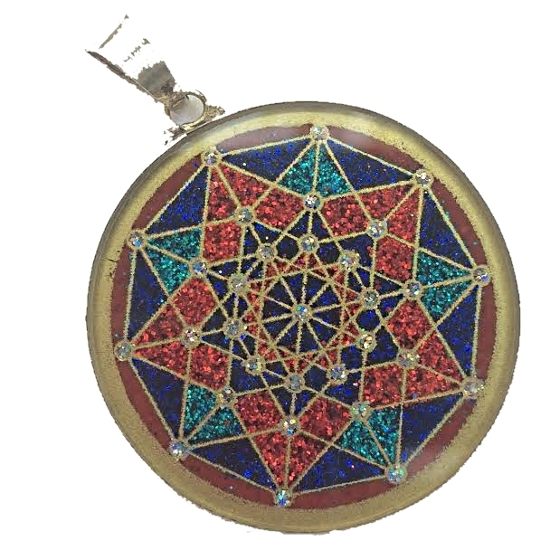 Penteract sacred geometry pendant red coral by scalar heart penteract sacred geometry pendant red coral by scalar heart collection 00657 aloadofball Gallery