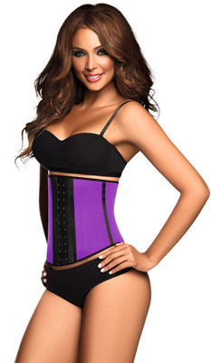 Ann Chery Deportiva 3 Hooks Sport Latex Waist Trainer (Purple) (2023)