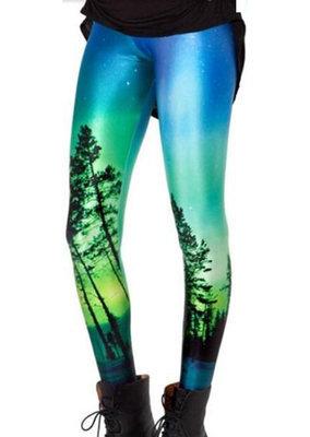 Mystical Forest Leggings Blue