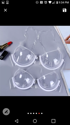 Female 3/4 Cup Transparent Clear Push Up Bra Ultra-thin Strap Invisible Bras Underwear