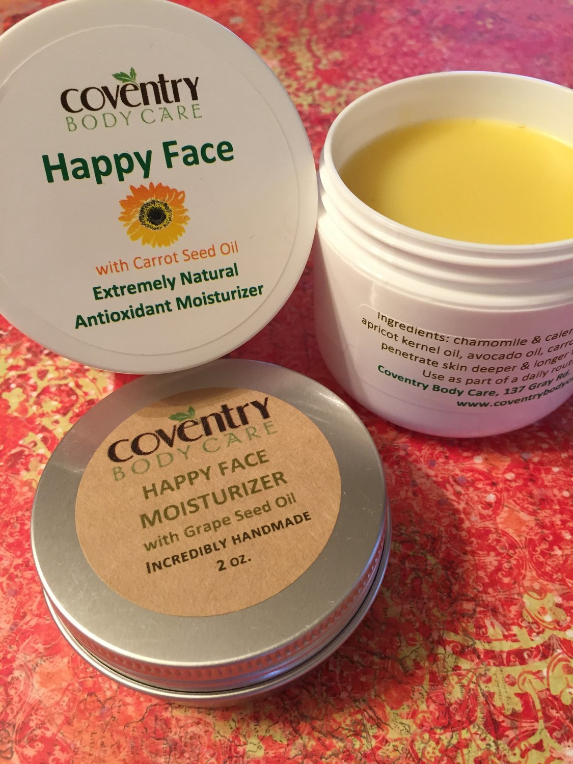 HAPPY FACE     (plant oil-based moisturizer for the face)