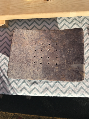 Soapstone rectangle from India