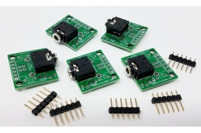 3.5mm Breakout Board for prototyping. Pack of 5.