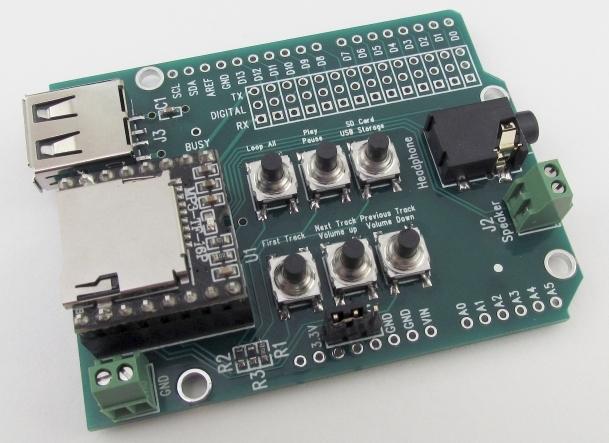 Shield to Play MP3/WAV files from SD/USB CGMP3SHIELD1