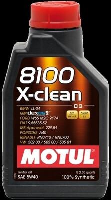 Olio motore MOTUL 8100 X-CLEAN 5W-40