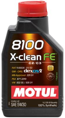 Olio motore MOTUL 8100 X-CLEAN 5W-30