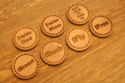 Wooden Nickel Swim Magnets