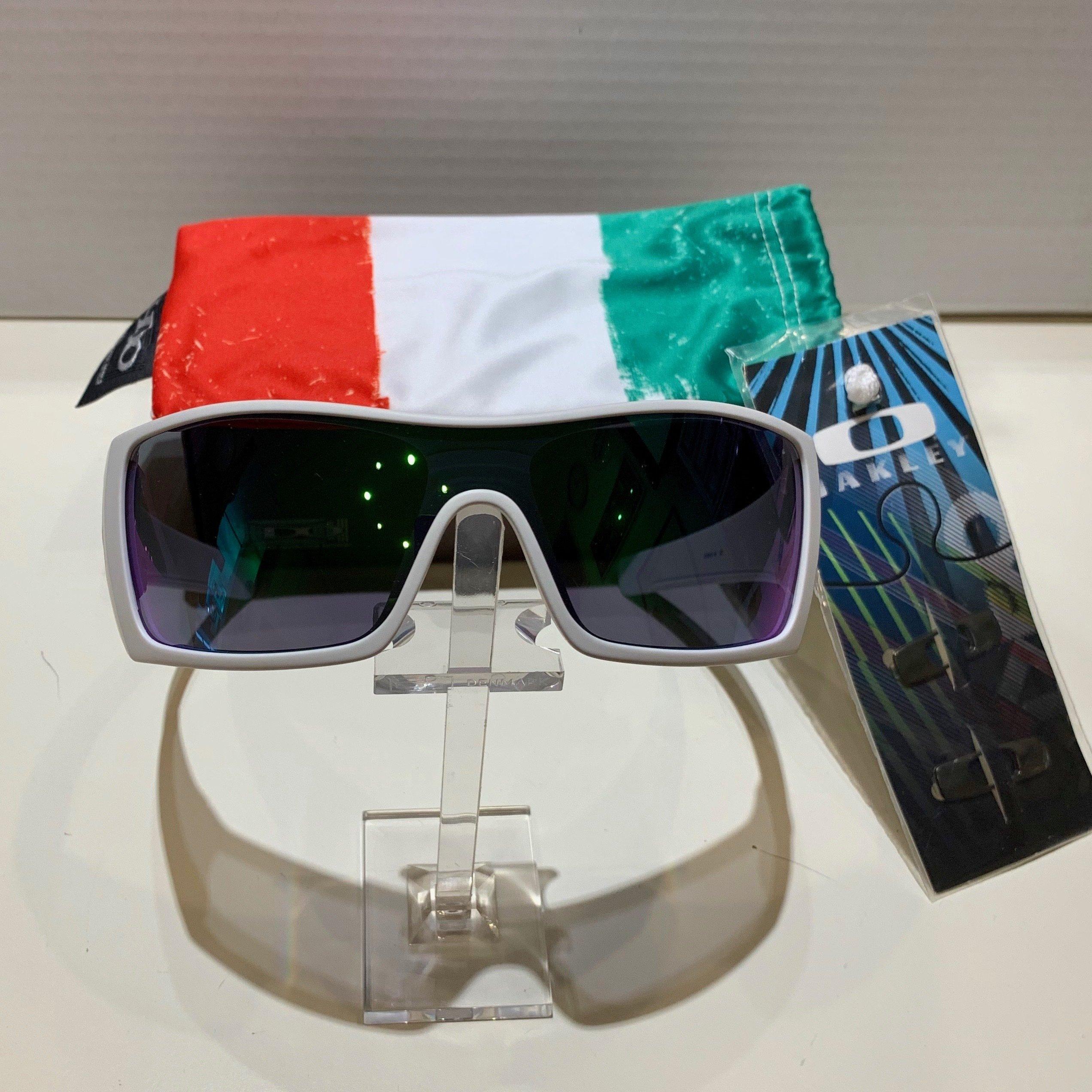Oakley Batwolf Italy Edition - Matte White - Jade iridium 9101-15