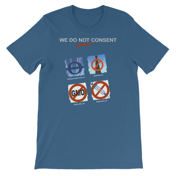 WE DO NOT CONSENT Z-sites 2x2 Short-Sleeve Unisex T-Shirt 00013
