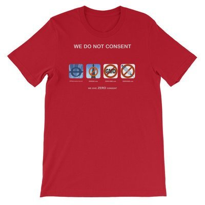 WE DO NOT CONSENT Z-sites 4x1 Short-Sleeve Unisex T-Shirt