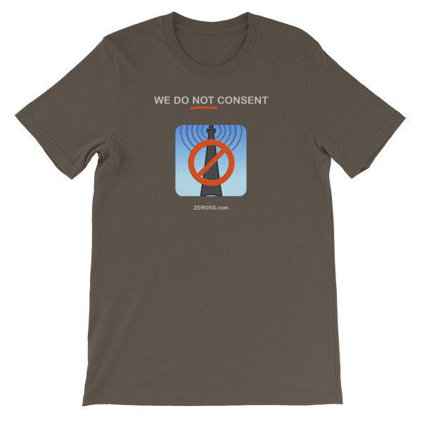 WE DO NOT CONSENT ZERO5G.com Short-Sleeve Unisex T-Shirt 00016