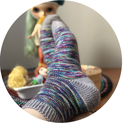 Knitting online course Let's sock together