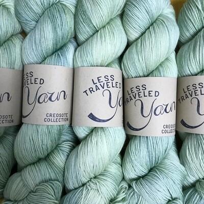 Less Traveled Yarn Fingering Sock Jade