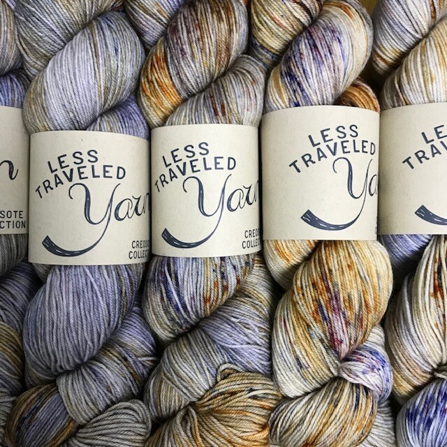 Less Traveled Yarn Fingering Sock Monsoon