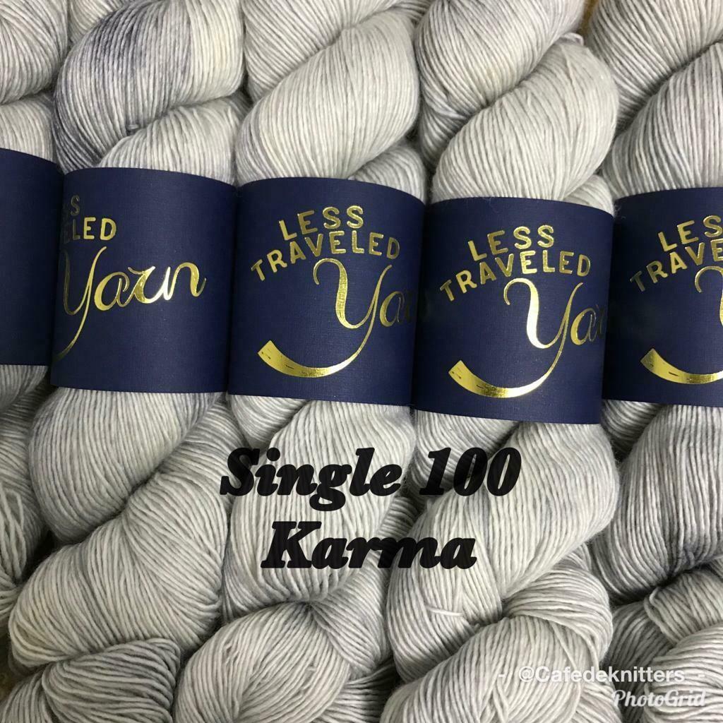 Less Traveled Yarn Fingering Single Karma