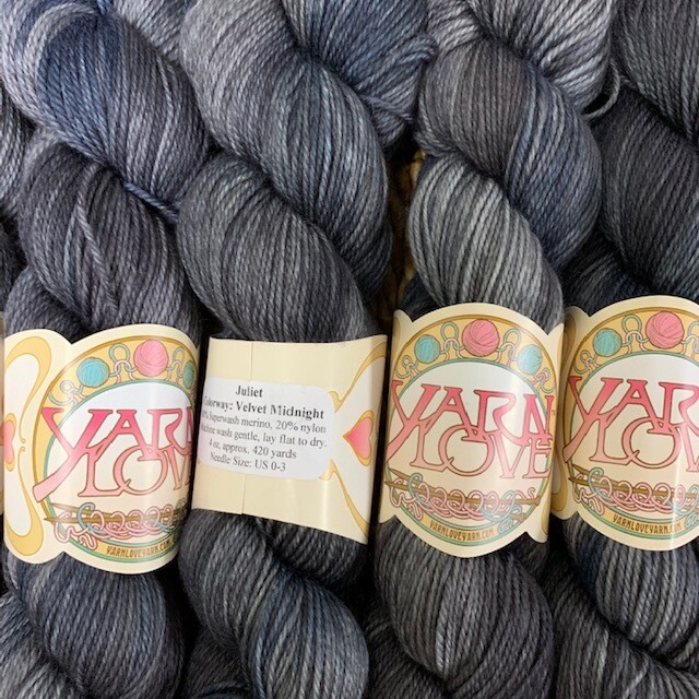 Yarn Love Juliet  Fingering Velvet Midnight
