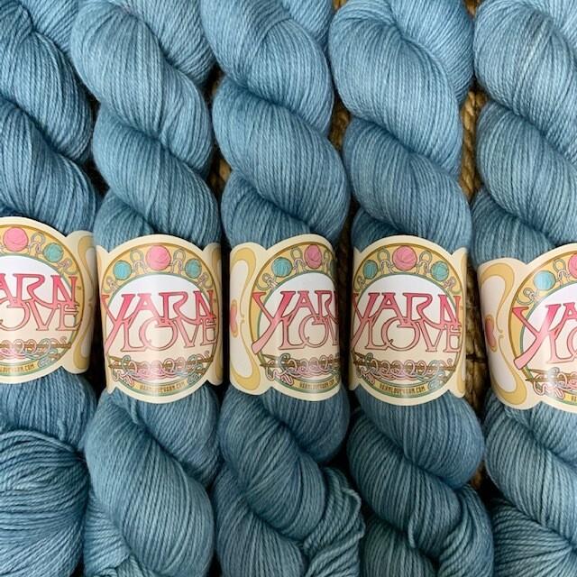 Yarn Love Juliet  Fingering Steel Blue