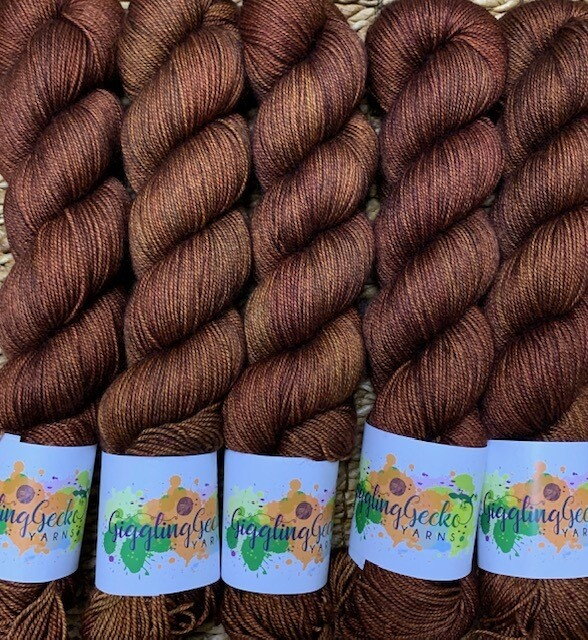 GGY GigglingGecko Tubote Yarn  Burnt Spice