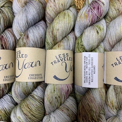 Less Traveled Yarn Fingering Sock CANYON