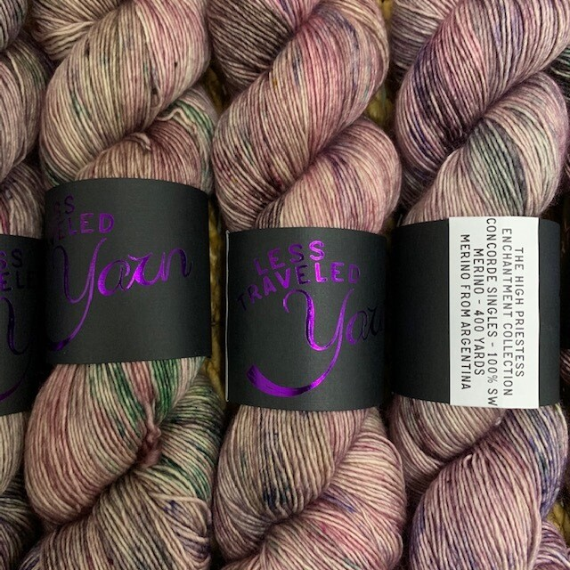 Less Traveled Yarn Fingering Single THE HIGH PRIESTESS