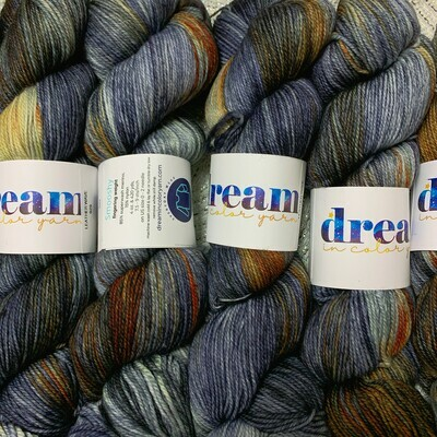 Dream in Color  Yarn Leather Wave smooshy sock