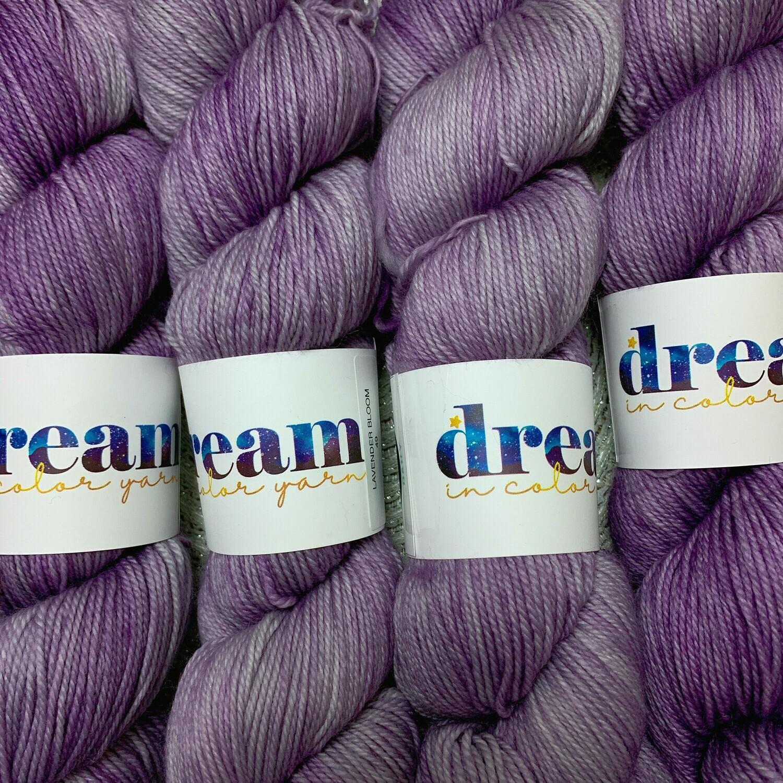 Dream in Color  Yarn Lavender Bloom smooshy sock