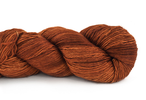 Malabrigo Hand dye Mechita Yarn Dried Orange #895