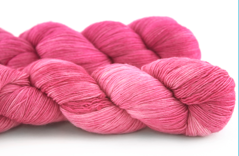 Malabrigo Hand dye Lace Yarn Shocking Pink #184