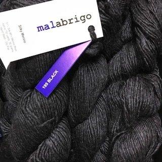 Malabrigo Silky Merino Black #SM195
