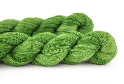 Malabrigo Hand dye Lace Yarn Saphire Green #4