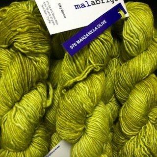 Malabrigo Silky Merino Manzanilla Olive #SM076