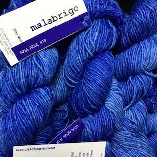 Malabrigo Silky Merino Azul Azul #SM419