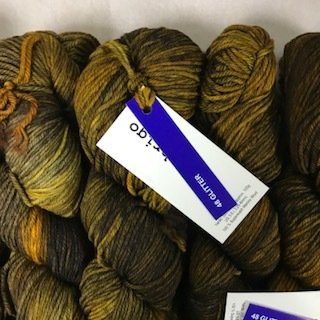 Malabrigo Arroyo Greenish Glitter - AR048 *