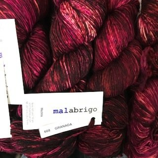 Malabrigo Hand dye Mechita Granada #668