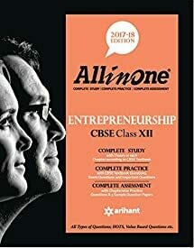All In One ENTREPRENEURSHIP CBSE Class 12th Edition 2017-18