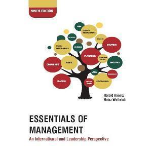 Essentials of Management An International and Leadership Perspective by Harold Koontz