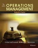 Operations Management International Student Version WSE by Russell